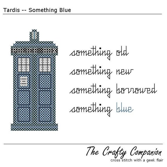 Doctor Who Inspired Tardis PDF Cross Stitch Pattern - INSTANT DOWNLOAD