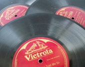 HOLD Victrola Antique Records 1910s Collection of 3 C-00274