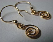 Gold Swirl Earrings I