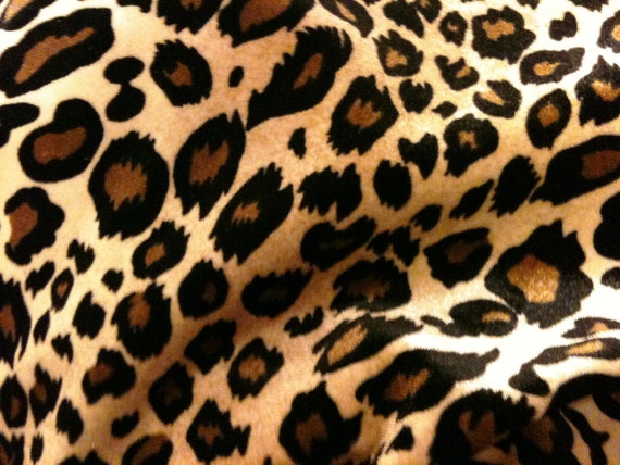 3 Yards Stretch Velvet Leopard Or Cheetah Fabric For