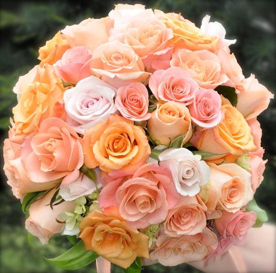Wedding bouquet made of silk flowers.