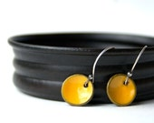 Made to Order Petite Enamel Earrings Yellow