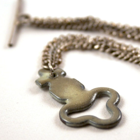 Enamel Bracelet Skeleton Key Sterling Silver
