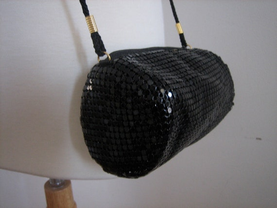 Vintage 1970s Chain Mail Cylinder Purse
