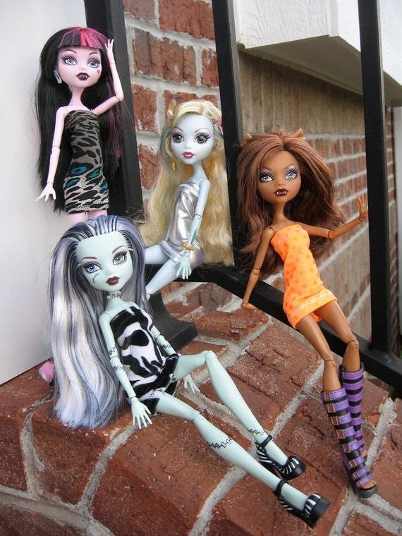 Monster High 4 handmade dresses
