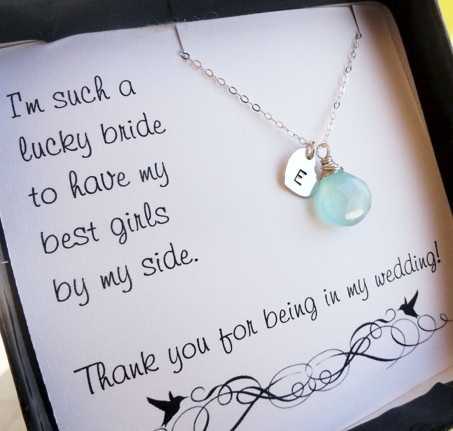 Wedding Gift Jewelry : Personalized Bridesmaid gifts THREE bridesmaid by OtisBWeddings