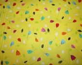 Floralicious Tossed Yellow Cotton Fabric from Benartex 1 yd,fat quarters are available