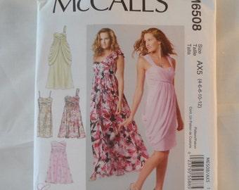 McCall's Women's Dress Pattern  6508 ,size 4,6,8,10,12