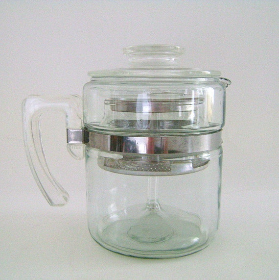 Pyrex Coffee Maker How To Use : Vintage Pyrex Coffee Pot / Percolator Coffee Pot