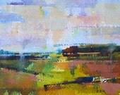 """Landscape 121 watercolor 7"""" x 5"""" print"""
