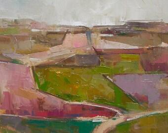"Untitled II "" Original oil landscape on canvas 14"" x 18"""