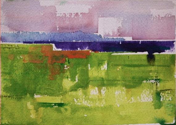 "Field 112 original watercolor 7"" x 5"""