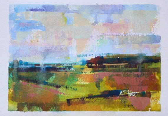 "Landscape 121 original watercolor 7"" x 5"""