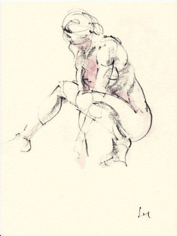 Figure study 107 Original drawing  7.5 x10 inches