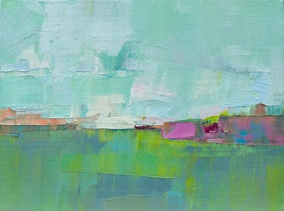 "Field III"" Original oil  on canvas 8"" x 6"""