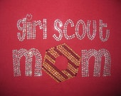 Just in time for cookie time Rhinestone Girl Scout Mom Shirt
