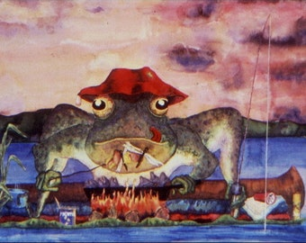 Frog Fishing & Camping Out - POSTER