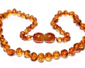 Baltic Amber Teething Necklace - Warm Honey - Made in Canada