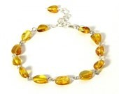 Baltic Amber Ladies Bracelet - Adjustable Length with Chain Extender