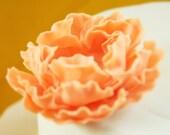 peony fondant cake topper 100% edible,handmade