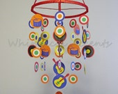 Rock Star Baby Paper Mobile in Primary Colors