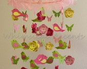 Spring Bird, Butterfly and Flower Baby Mobile