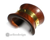 The Bronze Age Chunky Wooden Cuff Bracelet