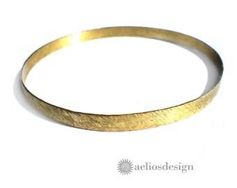 Slim Elegant Golden Bronze Bangle Bracelet