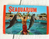 Vintage aquarium postcards tourist souvenir Seaquarium Miami Florida