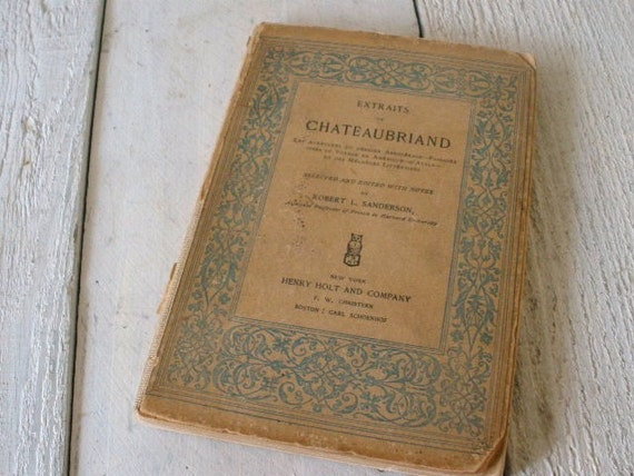 Antique French book Extraits de Chateaubriand