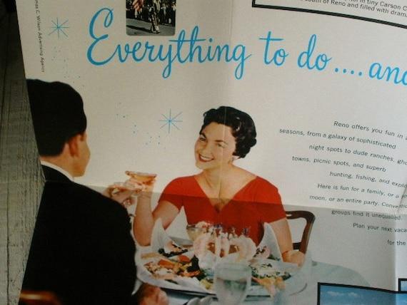 Reno travel brochure vintage 1950s