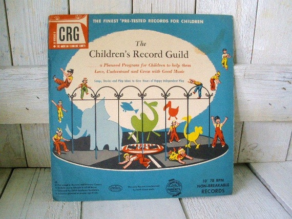 Vintage story record album childrens music appreciation 1950s