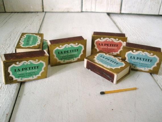 Vintage matchbooks box matches