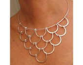 Wire Necklace  - Silver Waves