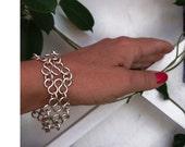 Wire Bracelet - Silver Wavy Serpentine