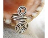Wire Ring  -  Doubble swirls