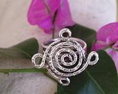 Ring - Silver wire swirl flower
