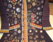 vintage fabric jacket/vintage dresses/ethnic dresses/old dresses/tribal dresses/india and pakistan tribal dresses/suzani dresses
