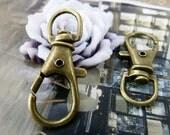 20pcs 13x35mm Antique Bronze Brass Clasps