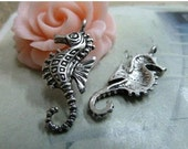 20pcs 12x30mm The Hippocampus Silver  White Charm For Jewelry Pendant B327