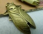 5 pcs 34x62mm The Cicada Antique Bronze Retro Pendant Charm For Jewelry Pendant C2665