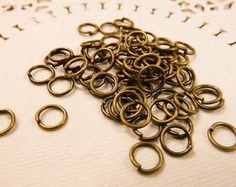 300pcs 7mm Antique Bronze Jump Ring