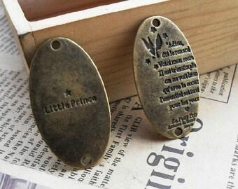 5 pcs 20x35mm Antique Bronze the elliptic  Pendant