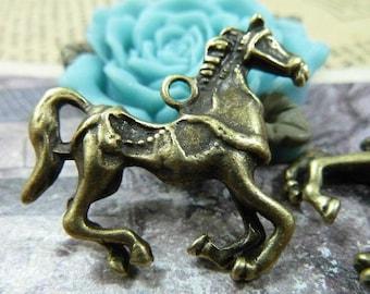 10pcs 6x28x30mmThe horse Antique Bronze  Charm Pendant