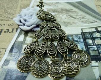 2pcs 40x74mm The Beautiful Phoenix  Antique Bronze Retro Pendant Charm For Jewelry Pendant
