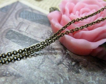 16 Feet 1.4x1.5mm Antique Bronze  Chains