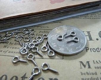 500pcs 4x9 mm Silver white Alloy  Nail