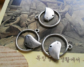20pcs 18mm The Bird  White Charm For Jewelry Pendant B36