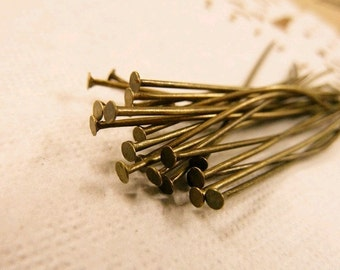 100ps 26mm Antique Bronze  Pin Findings P30-1