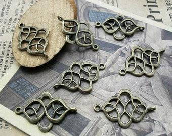 60pcs 18x28mm The  Antique Bronze Retro Pendant Charm For Jewelry /Pendant C446